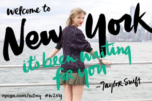 Taylor Swift Global Welcome Ambassador for NYC