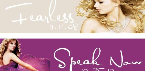 all four albums of Taylor Swift