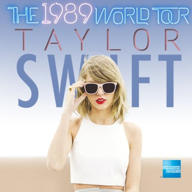 Taylor Swift world tour -- 1989 World Tour