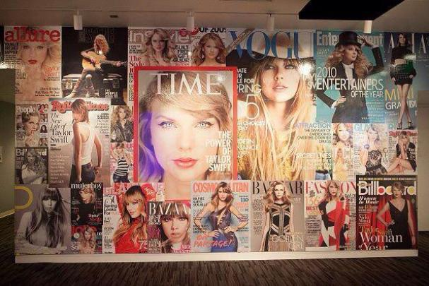 During past November 2014 alone Taylor featured in over 6 magazine covers.