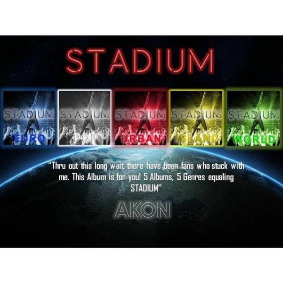 "Akon announces 5 part album ""Stadium"""