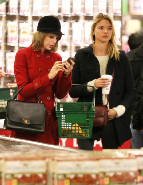 Taylor Swift shopping with Martha Hunt