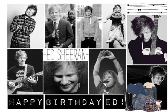 Fan made birthday wishes to Ed Sheeran.