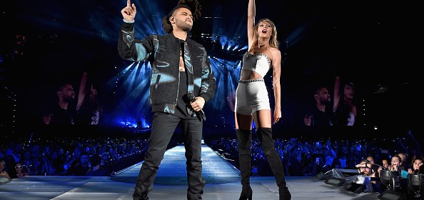 taylor swift and the weeknd perform on the 1989 world tour