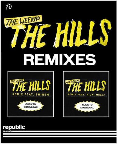 the hills remix with eminem and nicki minaj