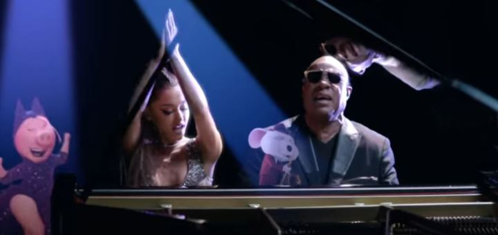 stevie wonder ariana grande faith video sing movie soundtrack