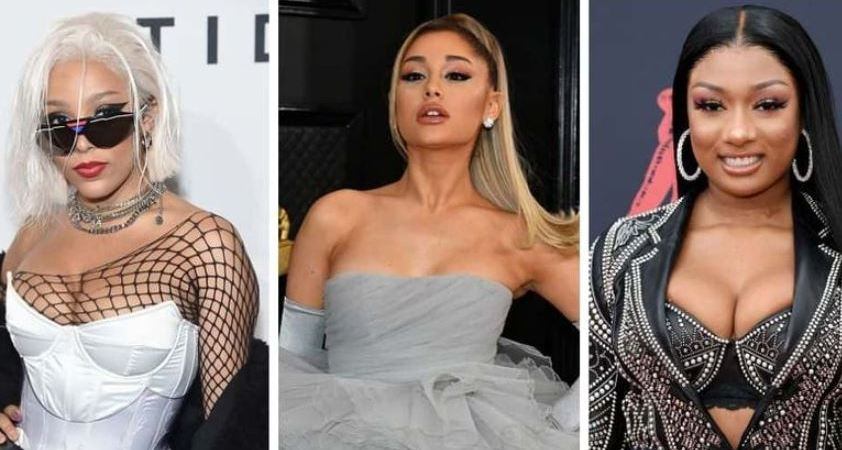 ariana grande 34+35 doha cat megan thee stallion