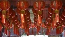 Lanterne nel tempio di Chinatown - Jakarta