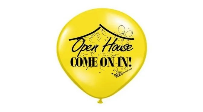 Open House Balloons for Real Estate