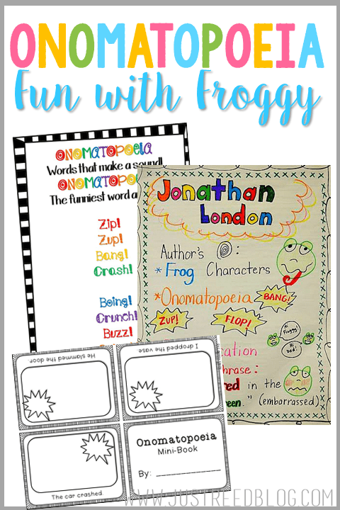 Jonathan London is the perfect author study for introducing onomatopoeia to your students!  Grab a freebie here!