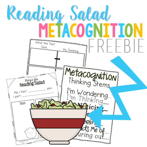 Teach students all about Metacognition in a hands on and fun way using this Reading Salad Freebie!