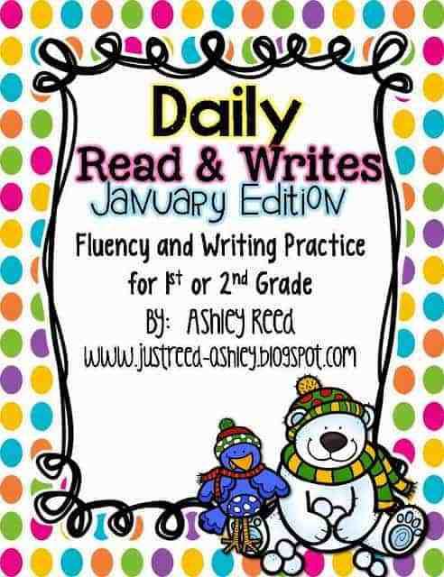 http://www.teacherspayteachers.com/Product/January-Read-and-Writes-Daily-Fluency-Passages-Writing-Prompts-1028180