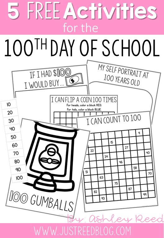 Five 100th Day of School Activities