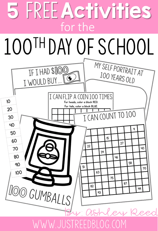 free 100th Day of School Activities