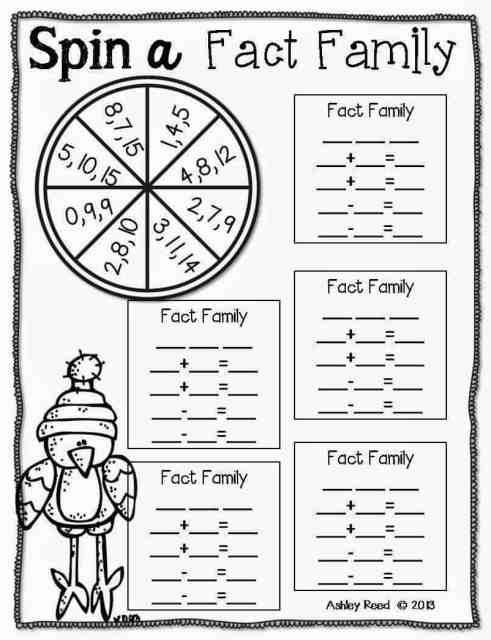 http://www.teacherspayteachers.com/Product/Spin-a-Fact-Family-Freebie-1048736