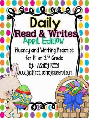 http://www.teacherspayteachers.com/Product/April-Read-and-Writes-Daily-Fluency-Practice-Plus-Writing-Prompts-1154360