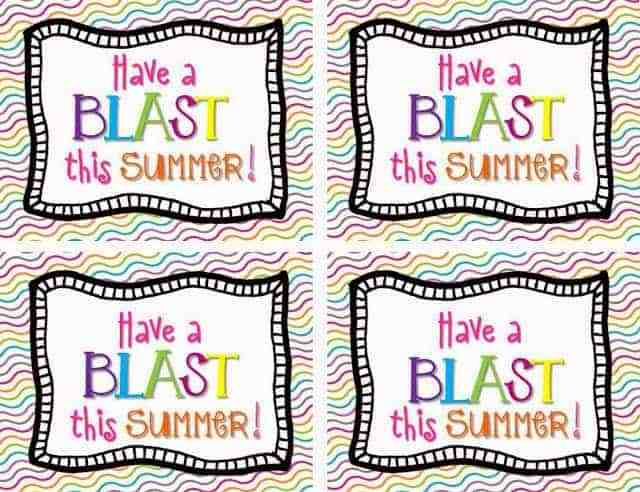 http://www.teacherspayteachers.com/Product/Have-a-Blast-Summer-Student-Gift-Tag-FREEBIE-697360