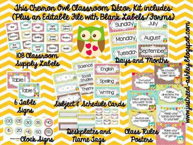 http://www.teacherspayteachers.com/Product/Chevron-Owl-MEGA-BUNDLE-Decor-Classroom-Mgmt-723944