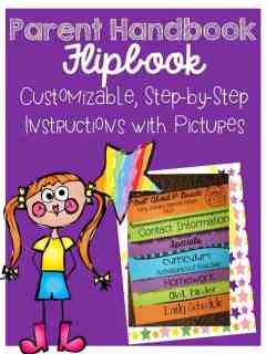 http://www.teacherspayteachers.com/Product/Parent-Handbook-Flipbook-Customizable-687228
