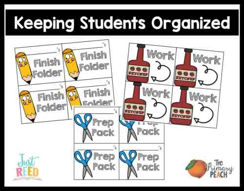 keeping students organized primary peach