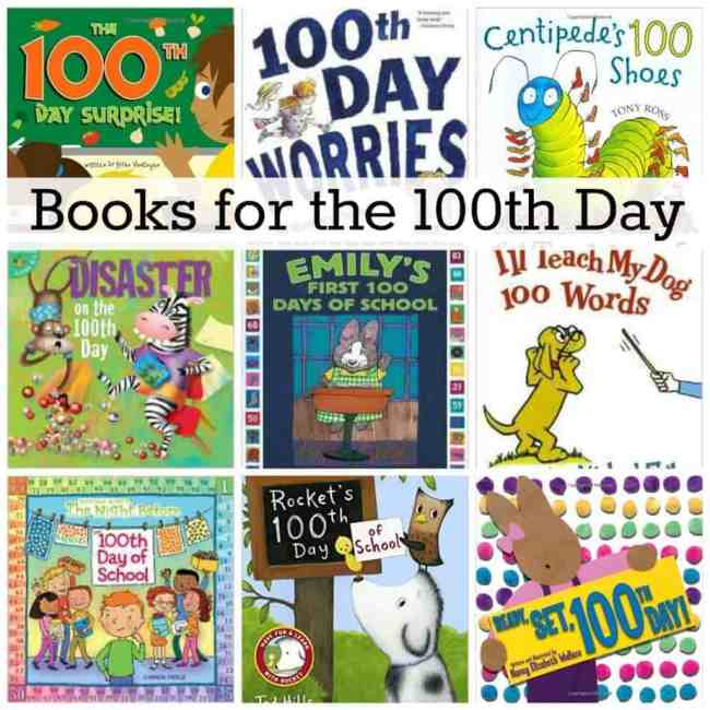 books for the 100th day collage