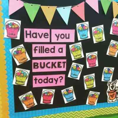 bucket filler bulletin board