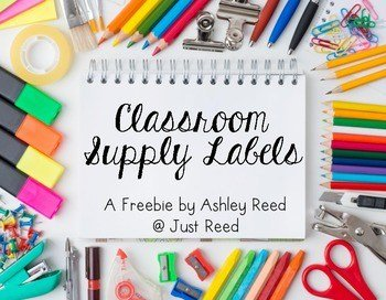 classroom supply labels cover