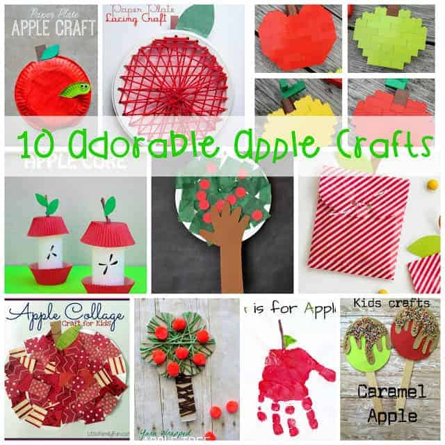 These ten adorable apple crafts are perfect for your September studies of apples and JOhnny Appleseed!