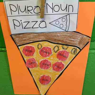 Make plural noun pizzas. Each pepperoni must contain a plural noun. The kids LOVED this!