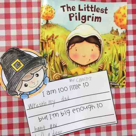 The Littlest Pilgrim reading response FREEBIE