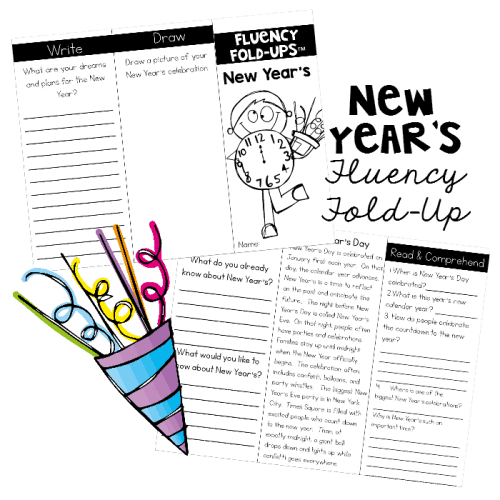 Use this Fluency Fold-Up when students return from Christmas break to teach them about the New Year.