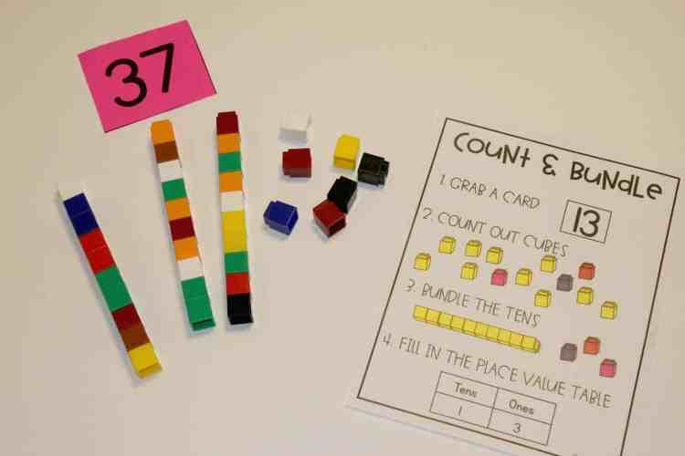Count and Bundle is a perfect game for building knowledge of tens and ones to lead into two digit addition