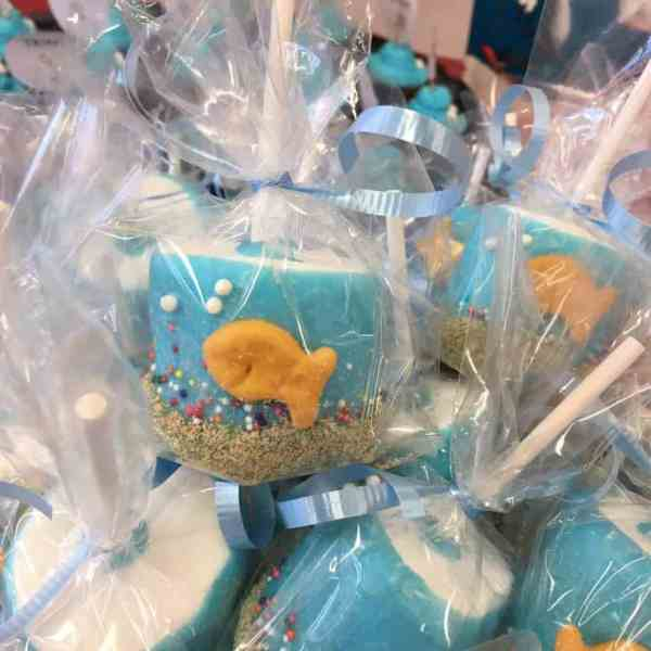 Fish Pops for Dr. Seuss's birthday and Read Across America