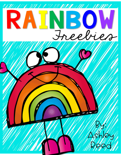 Rainbow themed freebies that are perfect for St. Patrick's Day!