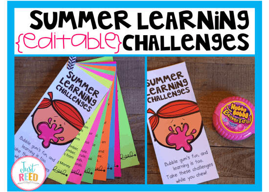 These editable summer learning challenges will engage your students and help prevent summer learning loss.