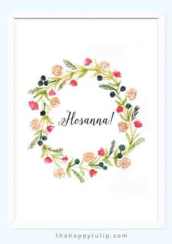 This Hosanna Easter printable is free.