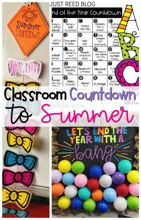 Fun and Free ways to count down to Summer at the end of the school year!