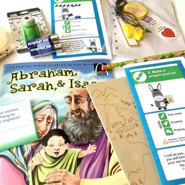 HelloBible is a Christian subscription box for children used to bring Bible stories to life.