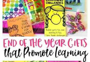 End of the Year Gifts that Promote Learning