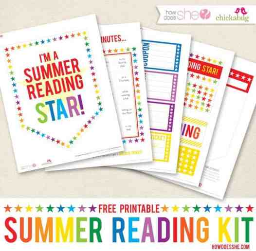 This FREE summer reading kit is perfect for you to use with your children!