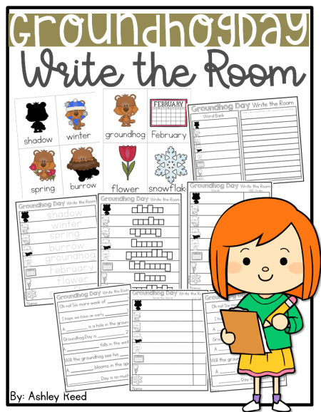 This differentiated Write the Room activity for Groundhog Day is perfect for grades Pre-k through 2nd!