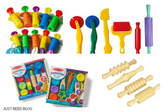 The best playdoh tools for preschoolers to develop fine motor skills.