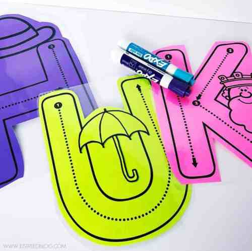Hands on alphabet activities for preschool and kindergarten