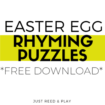 Easter Egg Rhyming Puzzles FREE PRINTABLE