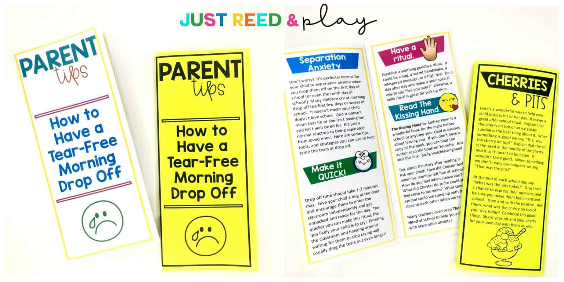 Print out this parent brochure with tips for a tear-free morning drop off at school or daycare.