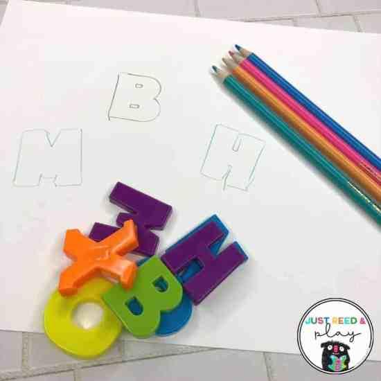 Magnetic Letter Activities for preschool