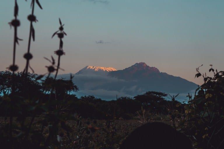 Slopes of Mt Kilimanjaro from Taita Taveta County