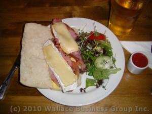 Back Bacon & Brie on Ciabatta Bread