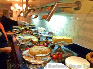 Dessert table at the Rideau Carleton Buffet