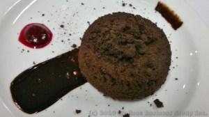 Molten Chocolate Polenta Cake